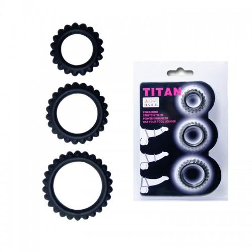 Набор из 3х Эрекционных Колец TITAN BI-210143